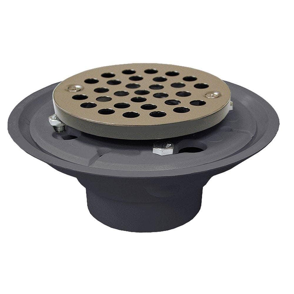 "4"" PVC Shower Drain/Floor Drain with Stainless Steel Round Strainer"