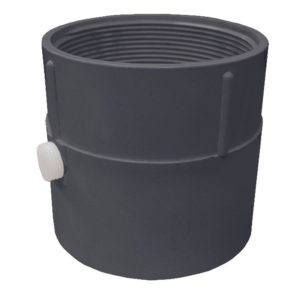 """4"""" PVC Pipe Fit Drain Base with Primer Tap, for 4"""" Spud"""