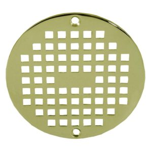 "6"" Polished Brass Round Strainer"