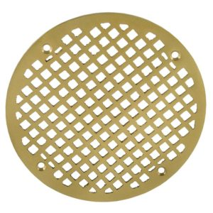 "8"" Polished Brass Round Strainer"