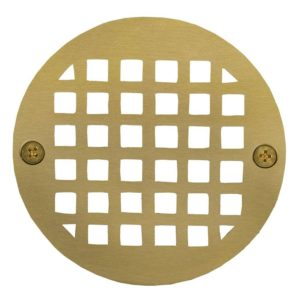 "4"" Polished Brass Round Strainer"