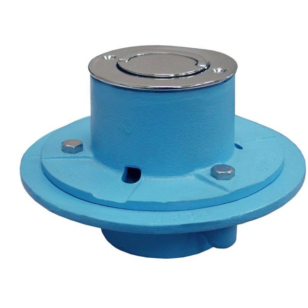 """2"""" IPS Code Blue Roman Tub Drain with 7"""" Base and Satin Nickel Strainer"""