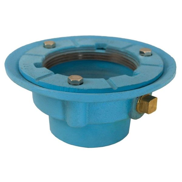 """3"""" Code Blue No Hub Drain Body with 7"""" Pan and 3-1/2"""" Spud Size - 2-1/2"""" Height"""