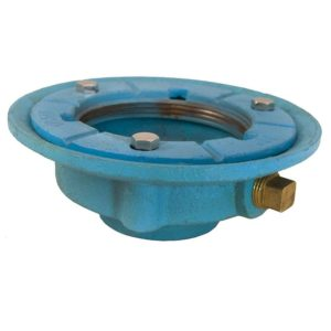 """2"""" Code Blue IPS Drain Body with 7"""" Pan and 3-1/2"""" Spud Size - 2-1/2"""" Height"""