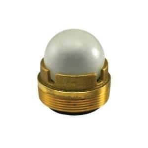 "2"" MIP Backwater Device Brass Body"