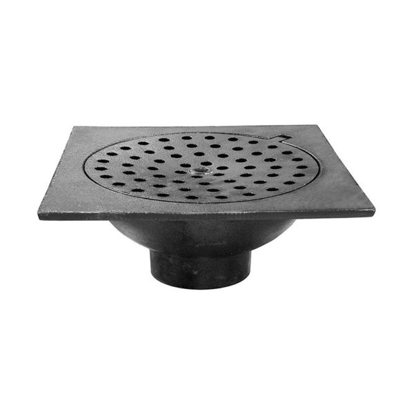 """12"""" x 12"""" x 4"""" No Hub Bell Trap with Hinged Lid"""