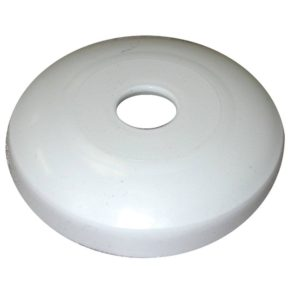 """3/4"""" IPS White Plastic Escutcheon, Shallow Flange, Box of 50"""