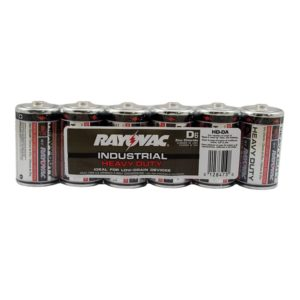 Rayovac Heavy Duty Industrial Batteries, D Size, Pack of 6