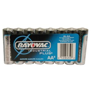 Rayovac Heavy Duty Alkaline Industrial Batteries, AA Size, Pack of 8