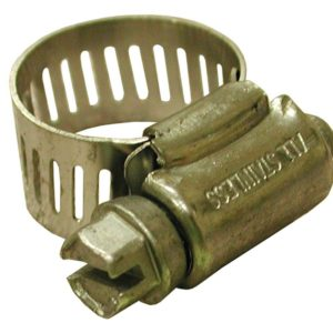 """1-5/8"""" - 3-1/2"""" Gear Clamp with 1/2"""" Band, All Stainless, Box of 10"""