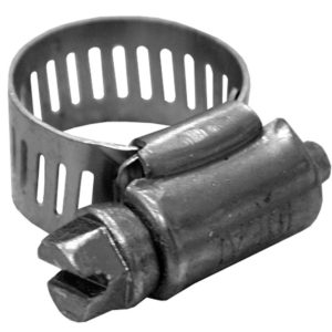 """1-5/8"""" - 3-1/2"""" Gear Clamp with 9/16"""" Band, All Stainless, Box of 100"""