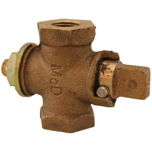 "1-1/4"" Gas Shut-Off Valve, Flat/Tee Head"