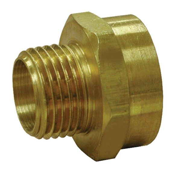 """3/4"""" x 1/2"""" Brass Garden Hose Fitting, Female Hose To Male Pipe"""