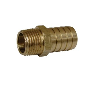 """3/4"""" x 1/2"""" Brass Hose Barb To Male Pipe"""