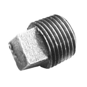 """1-1/2"""" Square Head Plug Galvanized"""