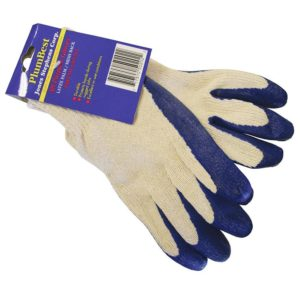All Purpose Latex Palm/Mesh Back Work Gloves, 12 Pairs