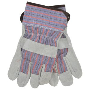 Leather Palm Low Safety Cuff Work Gloves, 12 Pairs