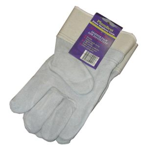 Display of Leather Palm Low Safety Cuff Work Gloves, 96 Pairs