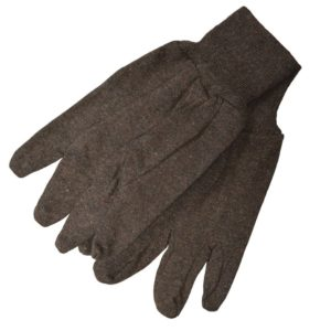 Economy Brown Jersey Work Gloves, 12 Pairs