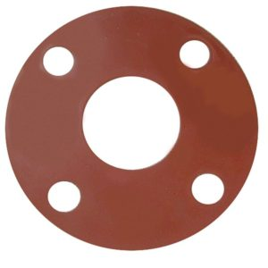 "1-1/2"" Red Rubber Full Face Gasket"