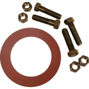 """2"""" Red Rubber Ring Gasket Kit, 5/8"""" x 2-3/4"""" Bolt Size"""