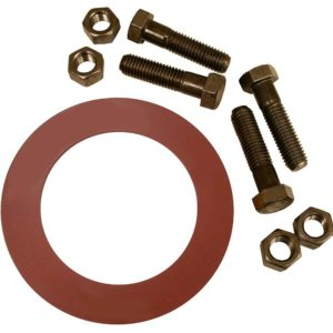 "2-1/2"" Red Rubber Ring Gasket Kit, 5/8"" x 3"" Bolt Size"
