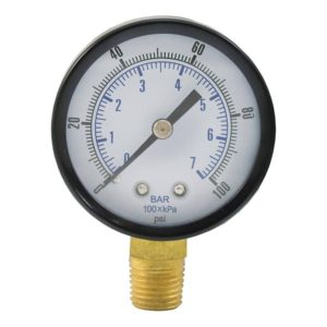 "100 PSI Pressure Gauge, 2"" Face"