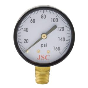 "160 PSI Pressure Gauge, 2"" Face"
