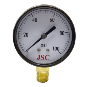 "100 PSI Pressure Gauge, 2-1/2"" Face"