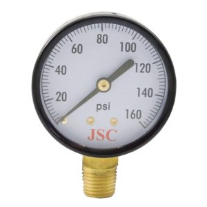 "160 PSI Pressure Gauge, 2-1/2"" Face"