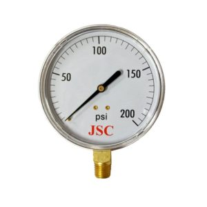 "200 PSI Pressure Gauge, 2-1/2"" Face"