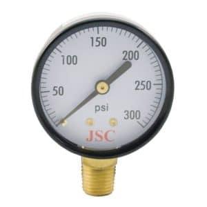 "300 PSI Pressure Gauge, 2-1/2"" Face"