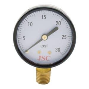 "30 PSI Pressure Gauge, 3-1/2"" Face"