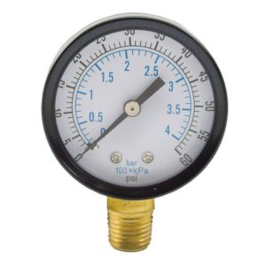 "60 PSI Pressure Gauge, 3-1/2"" Face"