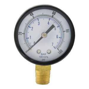 "100 PSI Pressure Gauge, 3-1/2"" Face"