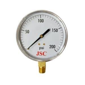 "200 PSI Pressure Gauge, 3-1/2"" Face"
