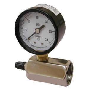 200 PSI Gas Test Gauge Assembly