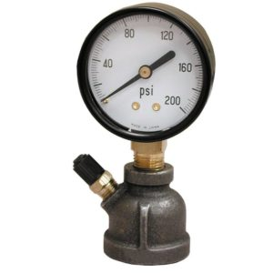 "100# x 3/4"" FIP Test Gauge Assembly, Bell Type"