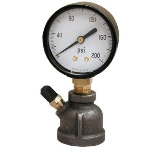 "15# x 1"" FIP Test Gauge Assembly, Bell Type"