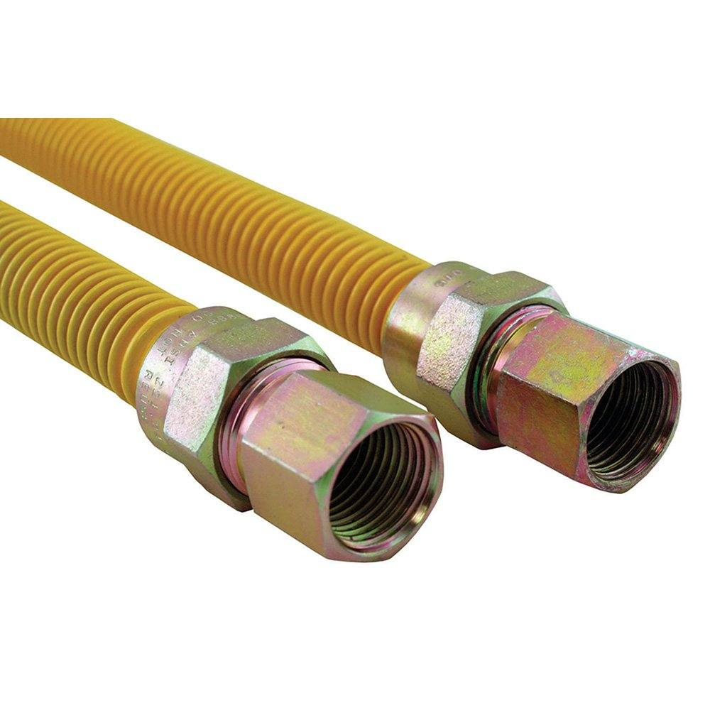 """5/8"""" Gas Connector, Coated with Fitting, 1/2"""" FIP x 1/2"""" FIP x 36"""""""