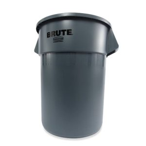 Brute 55 Gallon Gray Utility Container, Less Lid