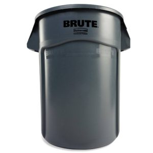 Brute 44 Gallon Gray Utility Container, Less Lid