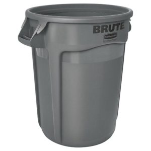 Brute 32 Gallon Gray Utility Container, Less Lid