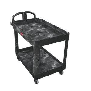 "24"" x 36"" Heavy Duty 2-Shelf Utility Cart, Lipped"