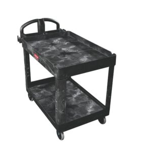 "16"" x 30"" Heavy Duty 2-Shelf Utility Cart, Lipped"