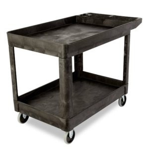 "24"" x 36"" 2-Shelf Utility Cart, Lipped"