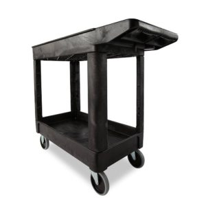 "16"" x 30"" 2-Shelf Utility Cart, Lipped"