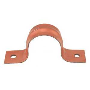 """1/4"""" Pipe Strap, Two-Hole, Copper Clad, Carton of 500"""