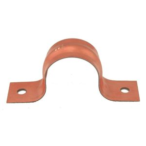 """1"""" CTS Pipe Strap, Two-Hole, Copper Clad, Carton of 100"""
