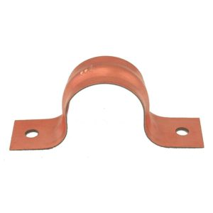 """1-1/4"""" CTS Pipe Strap, Two-Hole, Copper Clad, Carton of 100"""
